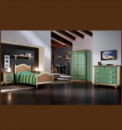Dormitor Colorat Lemn Masiv Areta