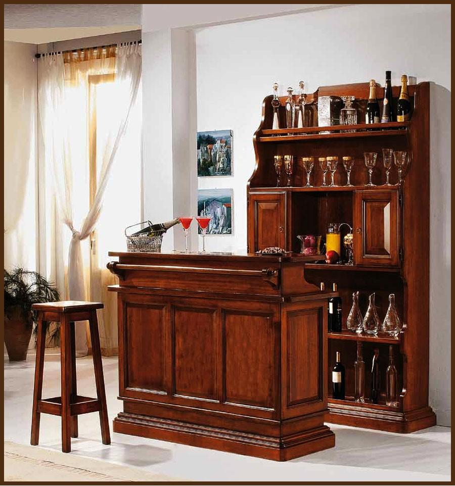 Bar living lemn masiv basilio mobila lemn masiv retro for Bar living montevideo