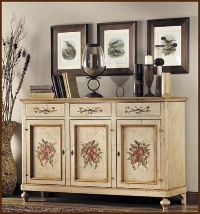 diponibil online comoda lemn masiv pictata bianca - Mobilier Vintage