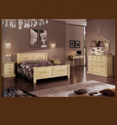 Dormitor Provensal Lido Lemn Masiv