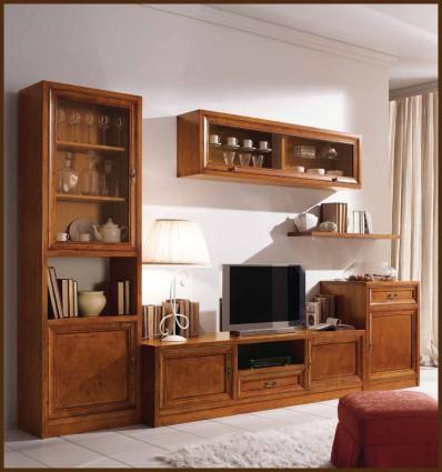 Biblioteca clasica Aniela din lemn masiv